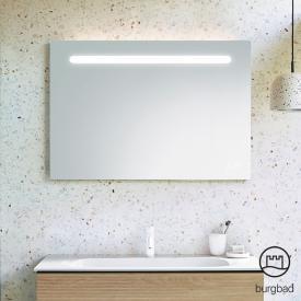 Burgbad Fiumo Leuchtspiegel mit horizontaler LED-Beleuchtung Front verspiegelt / Korpus anthrazit