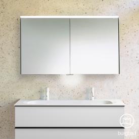 Burgbad Fiumo Spiegelschrank mit horizontaler LED-Beleuchtung, 2 Spiegeltüren