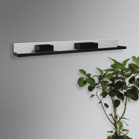 Burgbad Fiumo Wandboard mit Metallreling weiß matt, Reling schwarz