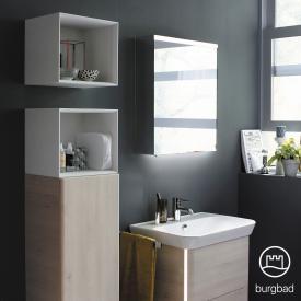 Burgbad Iveo Spiegelschrank mit LED-Beleuchtung mit 1-Tür mit Waschtischbeleuchtung