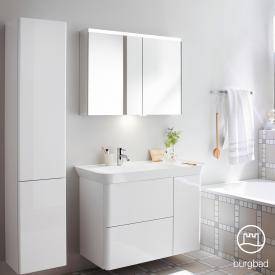 Burgbad Iveo Spiegelschrank mit horizontaler LED-Beleuchtung mit Waschtischbeleuchtung
