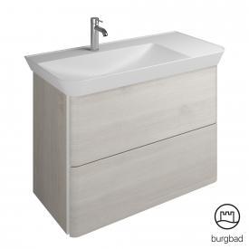 Burgbad Iveo Waschtisch mit Waschtischunterschrank mit 2 Auszügen Front eiche merino dekor / Korpus eiche merino dekor