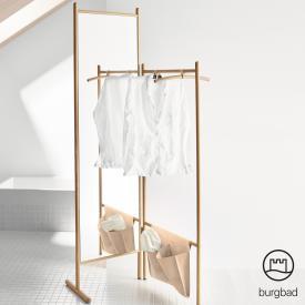 Burgbad Mya Garderobe-Raumteiler mit Ganzkörperspiegel eche natur/honigbraun