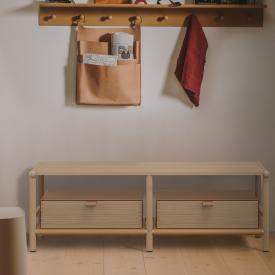 Burgbad Mya Lowboard mit 2 Schubladen eiche natur/eiche natur/honigbraun