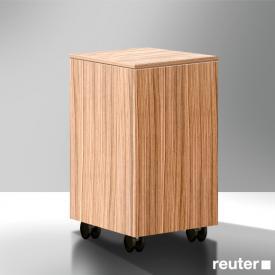 Burgbad Pli Rollcontainer Front nussbaum natur / Korpus nussbaum natur