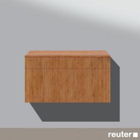 Burgbad Pli Sideboard mit 1 Auszug und 1 Schublade Front bambus / Korpus bambus