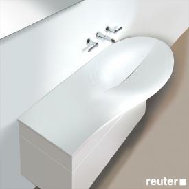Burgbad Pli Waschtisch amorph weiß