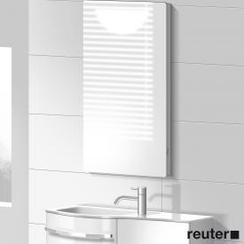 Burgbad Sinea Leuchtspiegel Front verspiegelt / Korpus weiß glänzend
