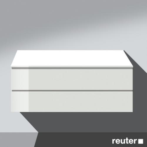 burgbad bel unterschrank mit 2 ausz gen front wei hochgl nzend korpus wei hochgl nzend. Black Bedroom Furniture Sets. Home Design Ideas