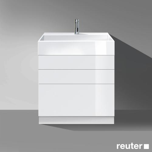 burgbad crono stehender waschtischunterschrank 3 ausz ge waschtisch wei front wei hochglanz. Black Bedroom Furniture Sets. Home Design Ideas