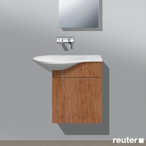 burgbad pli waschtischunterschrank mit waschtisch und 1 t r front bambus korpus bambus wt. Black Bedroom Furniture Sets. Home Design Ideas
