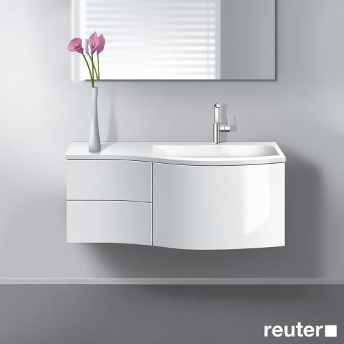 burgbad sinea waschtischunterschrank mit 1 auszug 2 schubladen und 1 waschtisch front wei. Black Bedroom Furniture Sets. Home Design Ideas
