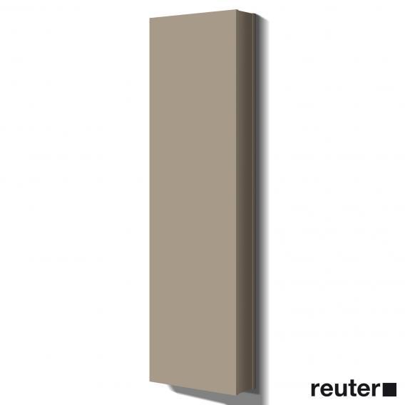 Burgbad Bel Hochschrank mit 1 Tür und 1 Spiegel Front basaltgrau matt/Korpus basaltgrau matt