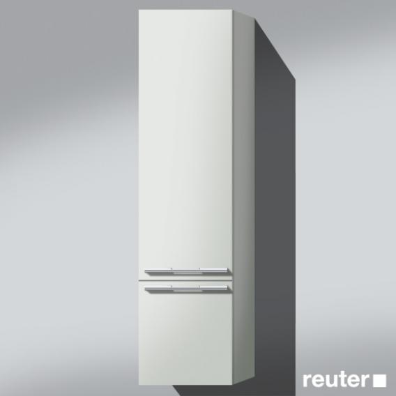 Burgbad Bel Hochschrank mit 1 Tür Front weiß matt / Korpus weiß matt