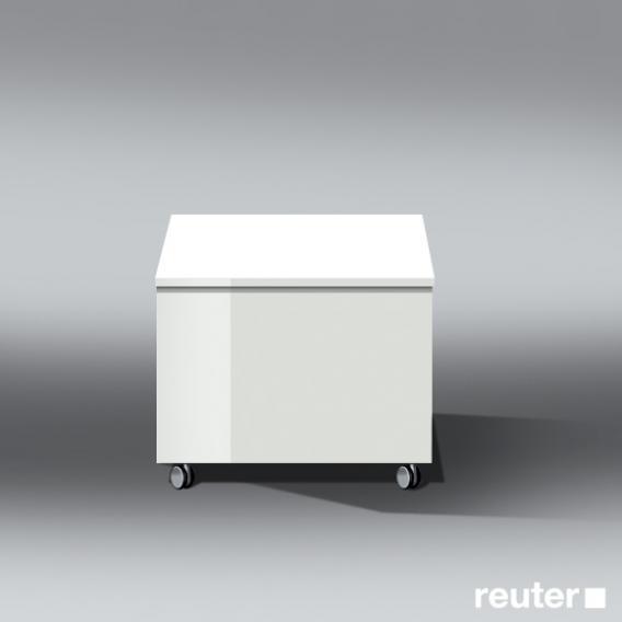 burgbad bel rollcontainer mit 1 auszug front wei hochglanz korpus wei hochglanz. Black Bedroom Furniture Sets. Home Design Ideas