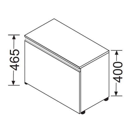 burgbad bel rollcontainer mit 1 auszug front wei matt. Black Bedroom Furniture Sets. Home Design Ideas