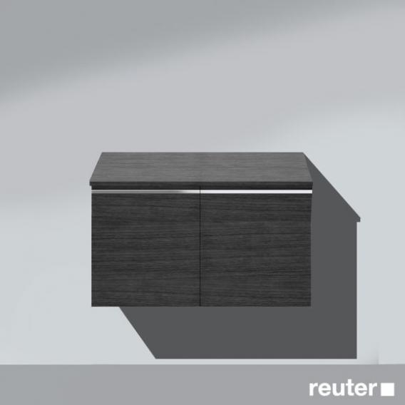Burgbad Bel Unterschrank mit 2 Türen Front hacienda schwarz / Korpus hacienda schwarz