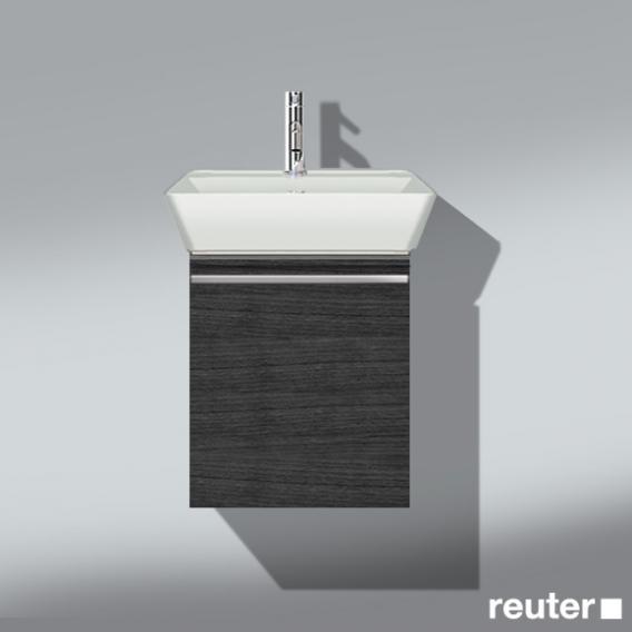 Burgbad Bel Waschtischunterschrank mit 1 Auszug und Waschtisch Front hacienda schwarz/Korpus hacienda schwarz/WT weiß