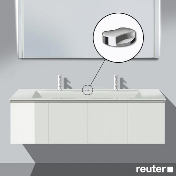 Burgbad Bel Waschtischunterschrank mit 4 Türen und Waschtisch Front weiß hochgl./Korpus weiß hochgl./WT weiß