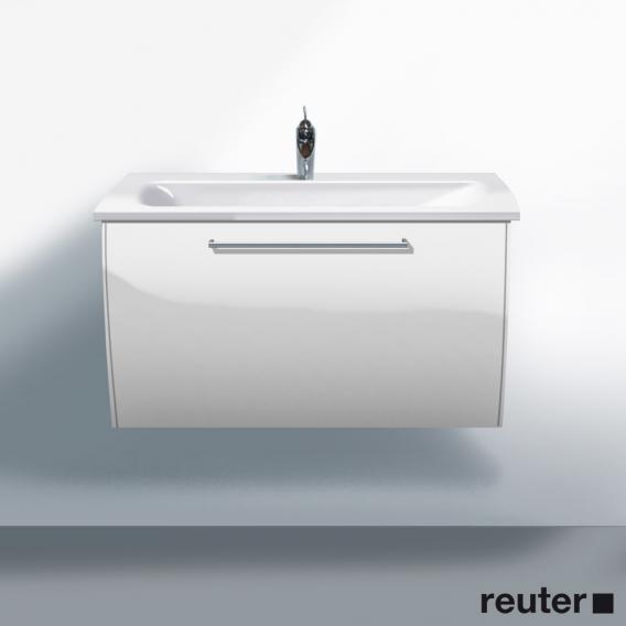 burgbad cala 2 0 waschtischunterschrank inklusive waschtisch und 1 auszug front wei hochglanz. Black Bedroom Furniture Sets. Home Design Ideas