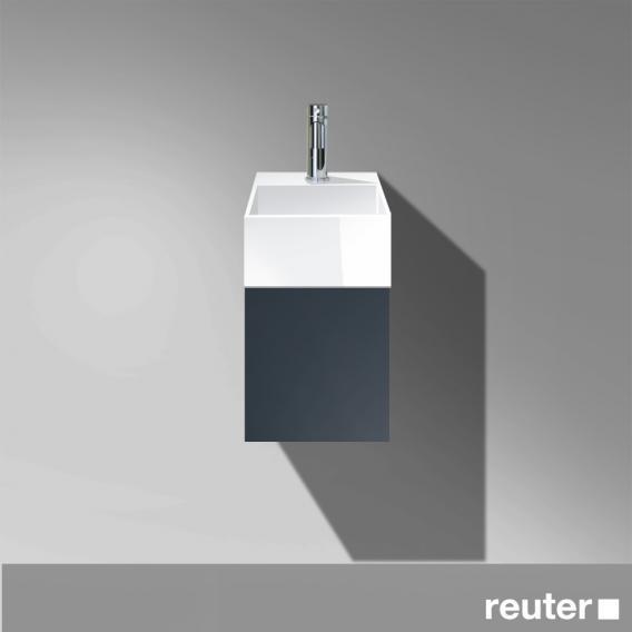Burgbad Crono Handwaschbecken mit Waschtischunterschrank mit 1 Tür Front anthrazit matt / Korpus anthrazit matt/Waschtisch weiß
