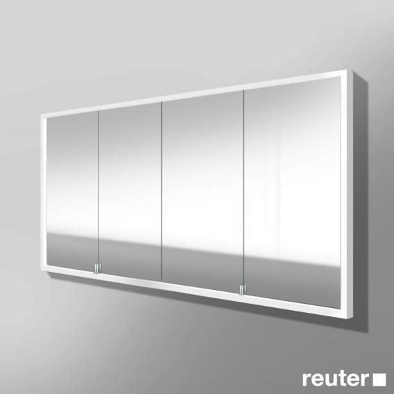 burgbad crono spiegelschrank mit led beleuchtung f r wandeinbau mit 4 t ren spft1601020 reuter. Black Bedroom Furniture Sets. Home Design Ideas