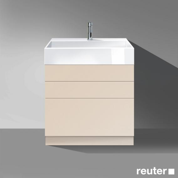 burgbad crono stehender waschtischunterschrank 3 ausz ge waschtisch wei front sand matt. Black Bedroom Furniture Sets. Home Design Ideas