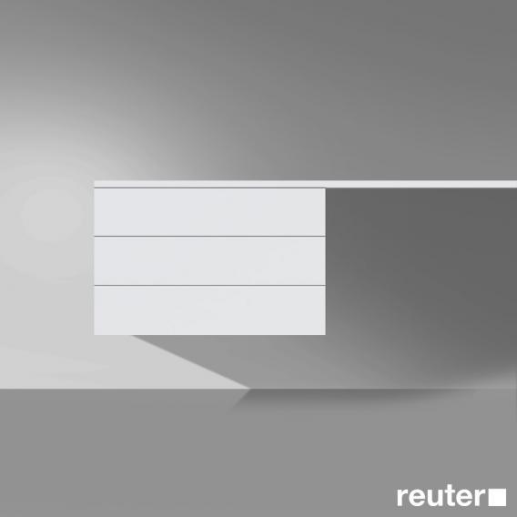 Burgbad Crono Unterschrank  mit 2 Türen Front weiß matt/Korpus weiß matt