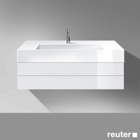 burgbad crono waschtisch mit waschtischunterschrank mit 1 auszug front wei hochglanz korpus. Black Bedroom Furniture Sets. Home Design Ideas