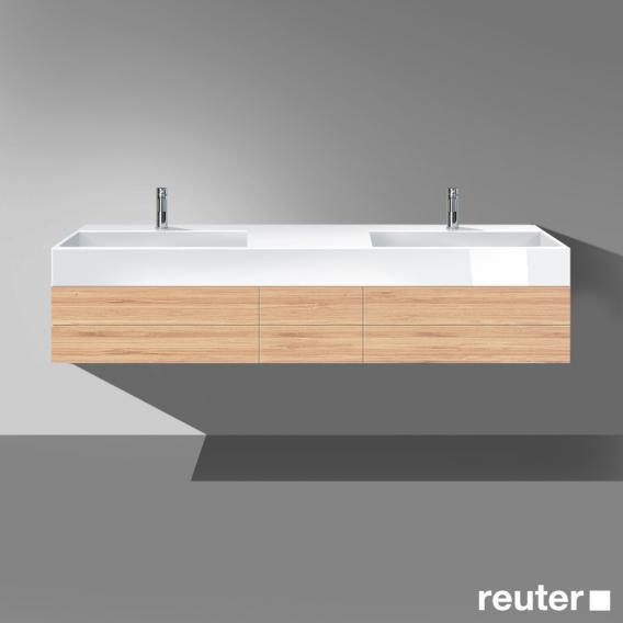 burgbad crono waschtischunterschrank mit doppelwaschtisch. Black Bedroom Furniture Sets. Home Design Ideas
