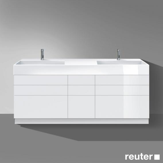 burgbad crono waschtisch mit waschtischunterschrank mit 9 ausz gen front wei hochglanz korpus. Black Bedroom Furniture Sets. Home Design Ideas