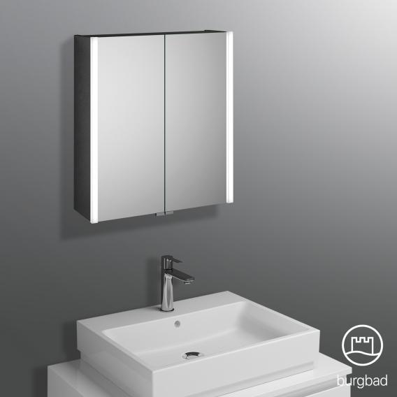 Burgbad Cube Spiegelschrank mit LED-Beleuchtung mit 2 Türen neutralweiß
