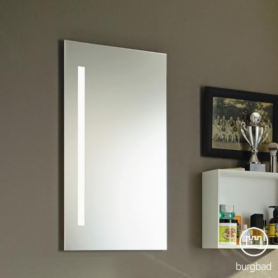 Burgbad Eqio Spiegel mit vertikaler LED-Beleuchtung