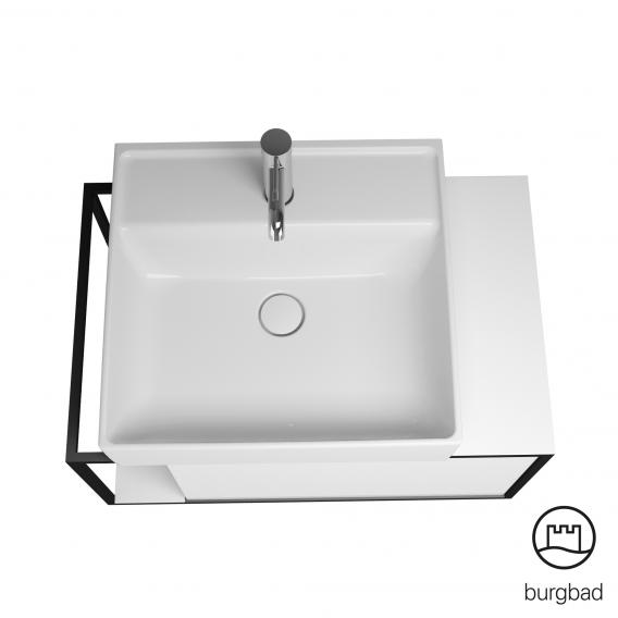 Burgbad Junit Keramik-Waschtisch inkl. Waschtischunterschrank mit 1 Auszug Front weiß hochglanz / Korpus weiß hochglanz