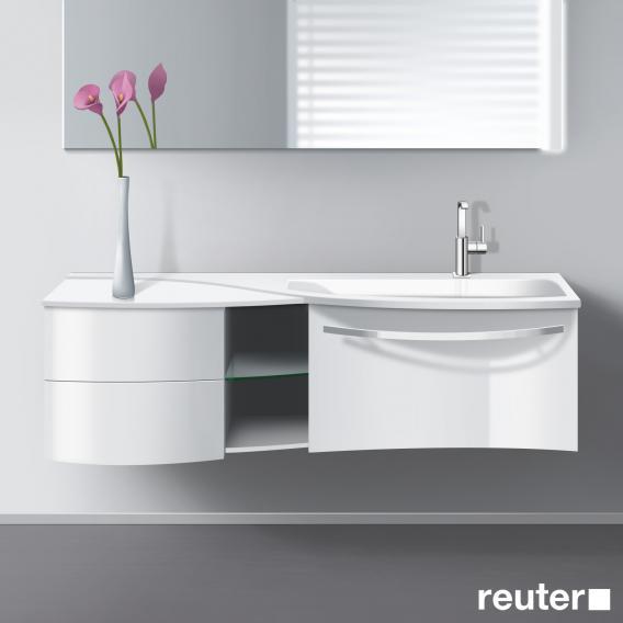 burgbad sinea waschtischunterschrank mit waschtisch 1 auszug 1 regal und 2 schubladen front. Black Bedroom Furniture Sets. Home Design Ideas