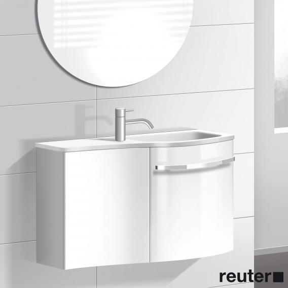 burgbad sinea waschtischunterschrank mit 2 t ren und waschtisch front wei hochglanz korpus wei. Black Bedroom Furniture Sets. Home Design Ideas