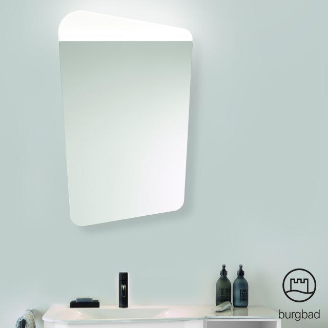 Burgbad Badu Spiegel mit LED-Beleuchtung links