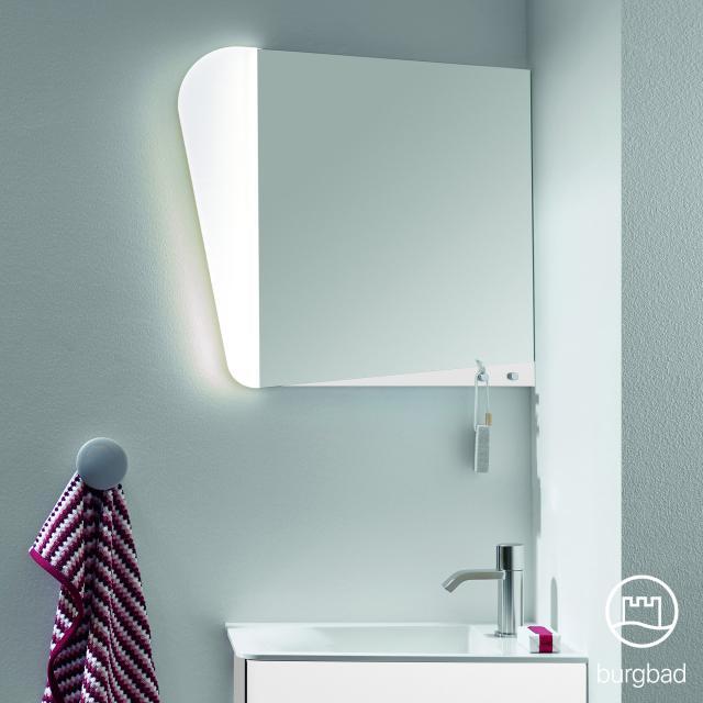 Burgbad Badu Spiegel mit LED-Beleuchtung weiß matt