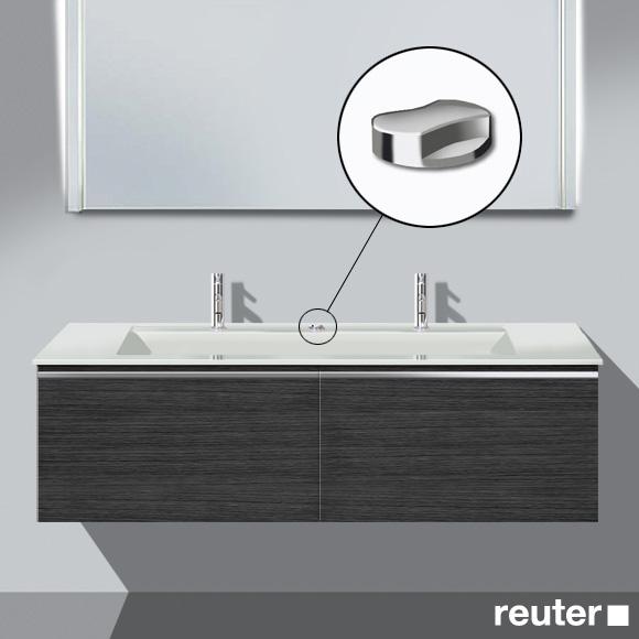 Burgbad Bel Doppelwaschtisch mit Waschtischunterschrank mit 2 Auszügen Front hacienda schwarz/Korpus hacienda schwarz/Waschtisch weiß
