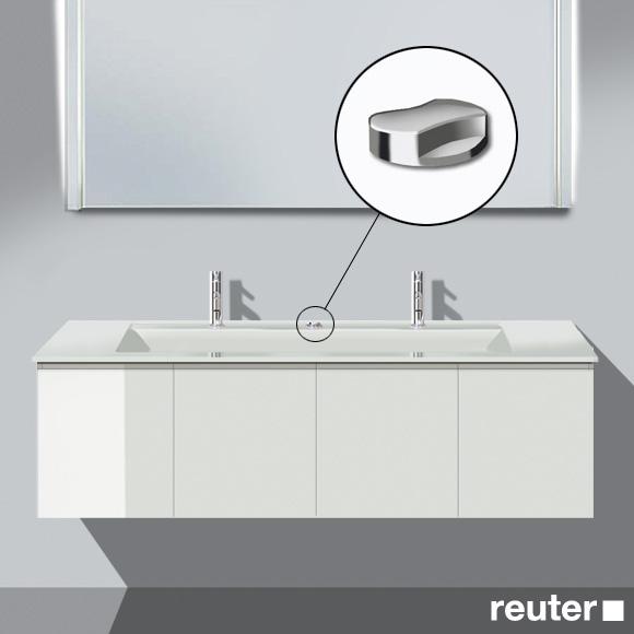 Burgbad Bel Doppelwaschtisch mit Waschtischunterschrank mit 4 Türen Front weiß hochgl./Korpus weiß hochgl./Waschtisch weiß