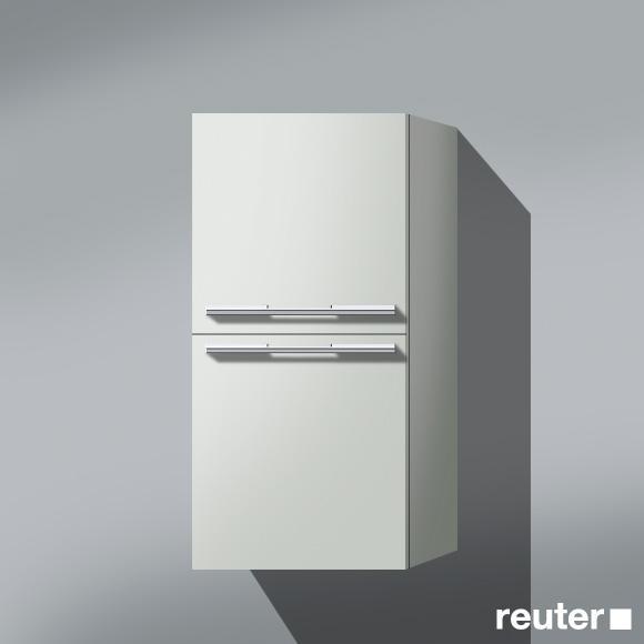 Burgbad Bel halbhoher Schrank mit 2 Türen und 1 Innenschublade Front weiß matt / Korpus weiß matt