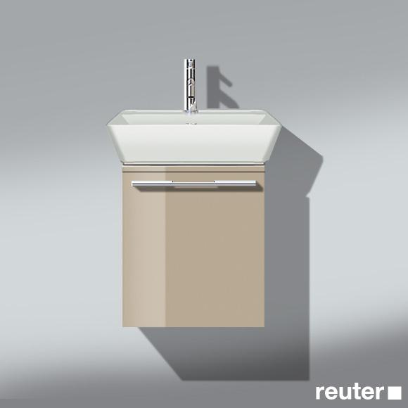 Burgbad Bel Handwaschbecken mit Waschtischunterschrank mit 1 Auszug Front sand hochgl./Korpus sand hochgl./Waschtisch weiß