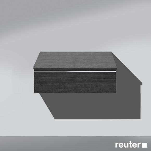 Burgbad Bel Sideboard mit 1 Auszug Front hacienda schwarz / Korpus hacienda schwarz