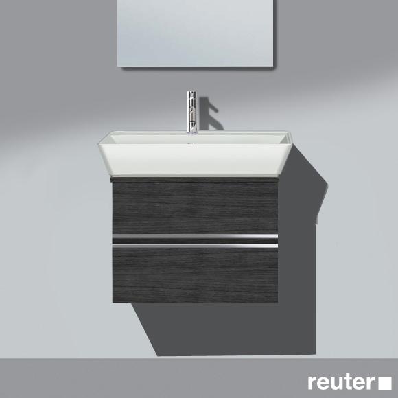 Burgbad Bel Waschtisch mit Waschtischunterschrank mit 2 Auszügen Front hacienda schwarz/Korpus hacienda schwarz/Waschtisch weiß