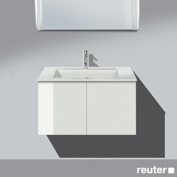 Burgbad Bel Waschtisch mit Waschtischunterschrank mit 2 Türen Front weiß hochgl./Korpus weiß hochgl./Waschtisch weiß