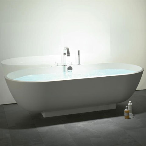 Burgbad Crono 2.0 Freistehende Oval-Badewanne weiß