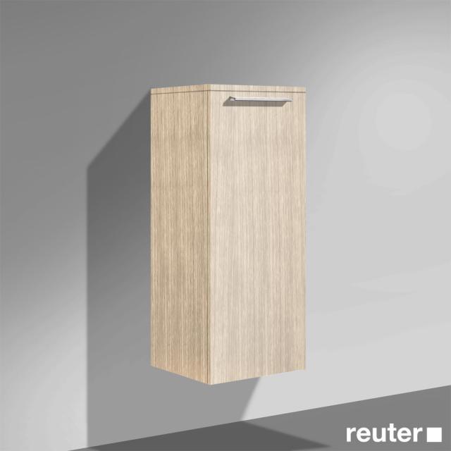 Burgbad Crono halbhoher Schrank mit 1 Tür Front eiche natur / Korpus eiche natur