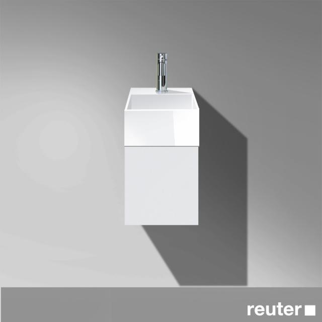 Burgbad Crono Handwaschbecken mit Waschtischunterschrank mit 1 Tür Front weiß matt/Korpus weiß matt/Waschtisch weiß