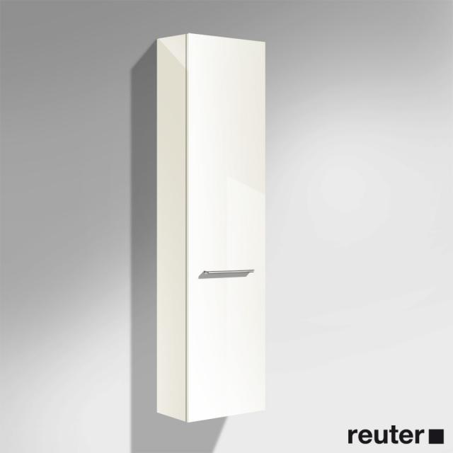 Burgbad Crono Hochschrank mit 1 Tür Front weiß hochglanz/Korpus weiß hochglanz