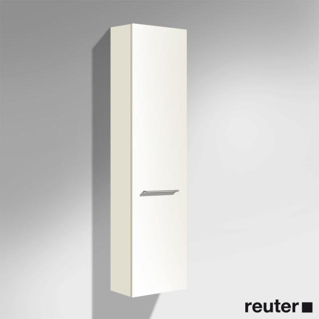 Burgbad Crono Hochschrank mit 1 Tür Front weiß matt/Korpus weiß matt